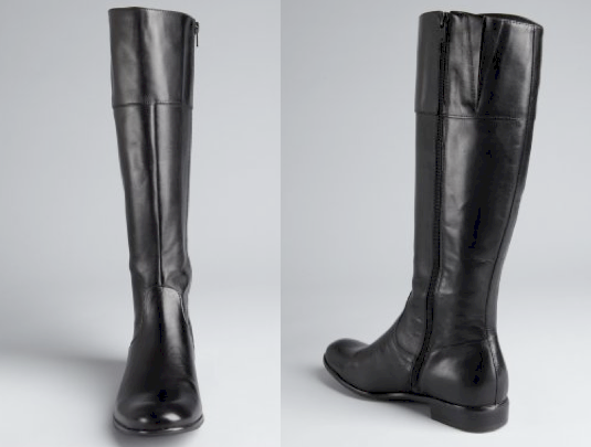 Ciao Bella black leather 'San Severo' flat boots